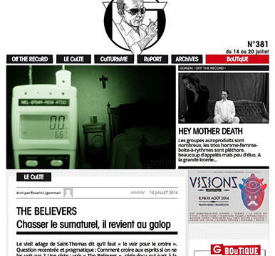 the believers, article, presse, média, Gonzaï Magazine,